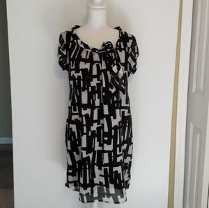 Dress Barn Black White Shift Dress